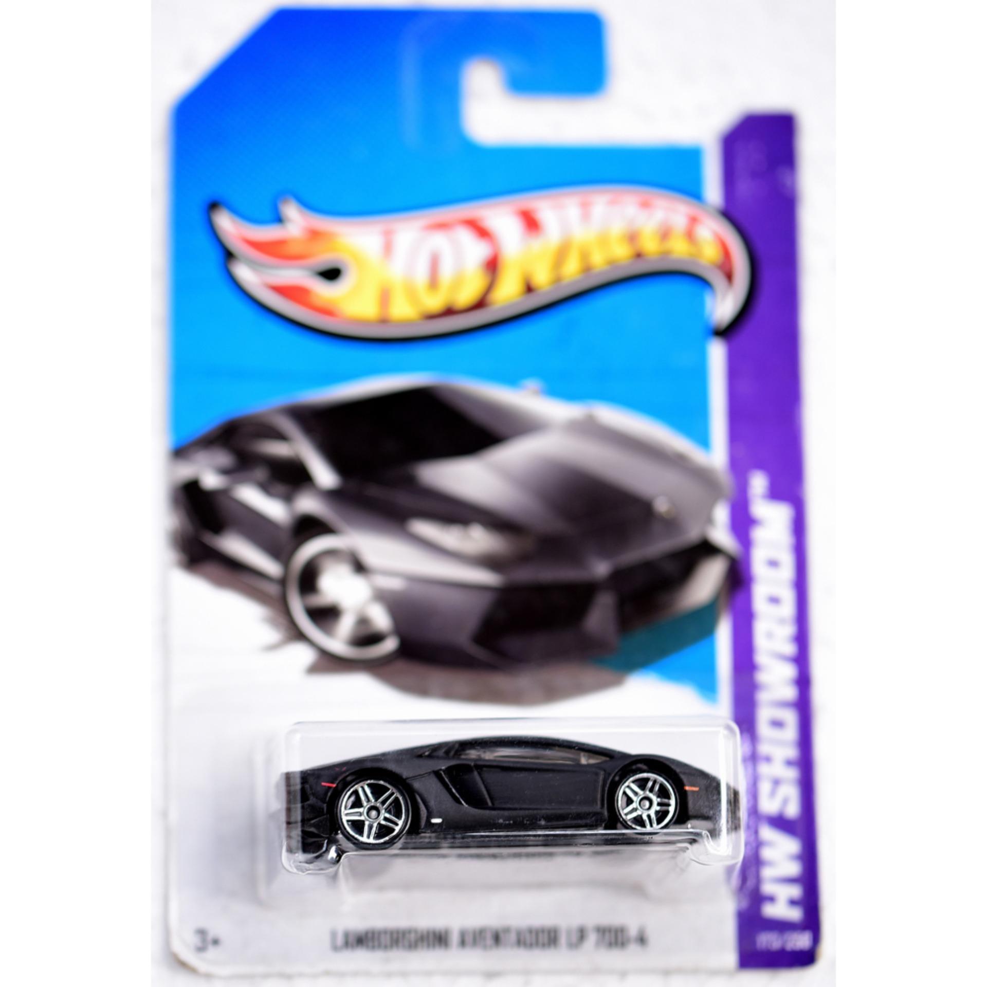 ô tô mô hình tỉ lệ 1:64 Hot Wheels Lambo Aventador LP 700-4 ( Màu Đen )