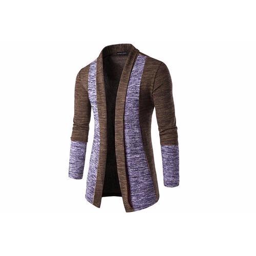 Tư vấn mua Áo khoác cardigan nhẹ nam form dài phối viền Xám Chì MS2300 xám chì