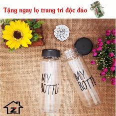 Bộ 2 chai thủy tinh thời trang My Bottle 500ml- Tặng lọ cỏ trang trí