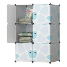 Tủ nhựa ghép đa năng tâm house 6 ngăn(đủ 6 ngăn + tặng treo đồ)