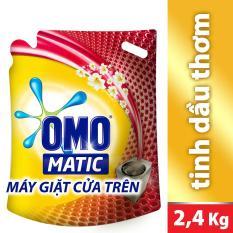 Nước giặt Omo Matic Tinh dầu thơm Comfort 1 túi 2.4kg