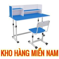 Bàn ghế học sinh xuân hòa BHS 13-07 màu xanh