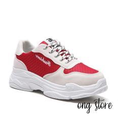 Giá hủy diệt Giày thể thao nữ phối màu đỏ đen