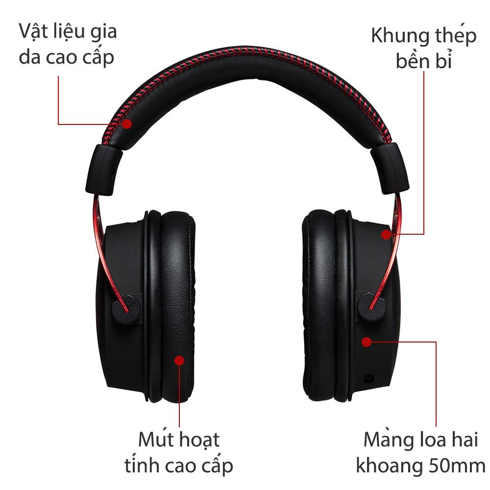 Tai nghe HyperX Cloud Alpha Pro Gaming for PC, PS4, Xbox One, Nintendo Switch (HX-HSCA-RD/AS)