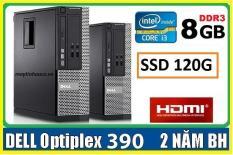 Máy tính để bàn đồng bộ Dell optiplex 390 ( Core i3 / 8G / SSD 120G ),Có HDMI , Tặng USB wifi , Dây HDMI bàn di chuột – Hàng Nhập Khẩu