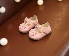 giầy tập đi bé gái hoa công chúa hồng 15-19