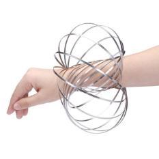 Đồ chơi vòng sắt ma thuật giảm stress Bracelet (Bạc)