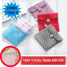 Combo 2 tampons bags. Get 10 masks