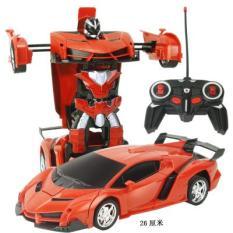 Đồ chơi ô tô điều khiển biến hình thành người máy dùng pin sạc có đèn, o to dieu khien bien hinh thanh robot dung sac