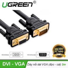 Dây nối dài VGA đực sang cái 3+6 OD8.0MM dài 2m UGREEN VG103 11614 – Hãng phân phối chính thức