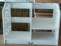 Kệ Sách Gỗ Để Bàn Cao Cấp Hoa Văn Chồi Hoa Sang Trọng ( 40x22x30 cm )