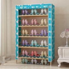 Tủ giày vải khung gỗ 5 tầng ( xanh, hồng, tím )