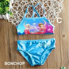 Đồ bơi 2 mảnh Elsa cho bé 1-8 tuổi