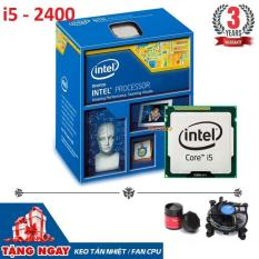 Bộ vi xử lý cpu intel Core i5 2400 6M bộ nhớ đệm, tối đa 3,40 GHz – Bảo hành 3 năm + Tặng quạt chip và keo tản nhiệt CH M04 – Hàng Nhập khẩu