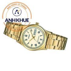 Đồng hồ nữ dây thép không gỉ Casio Anh Khuê LTP-v006g-9budf