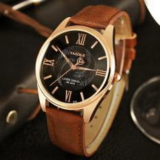 Đồng hồ nam Yazole T11 hiển thị Analog dây da loại tốt