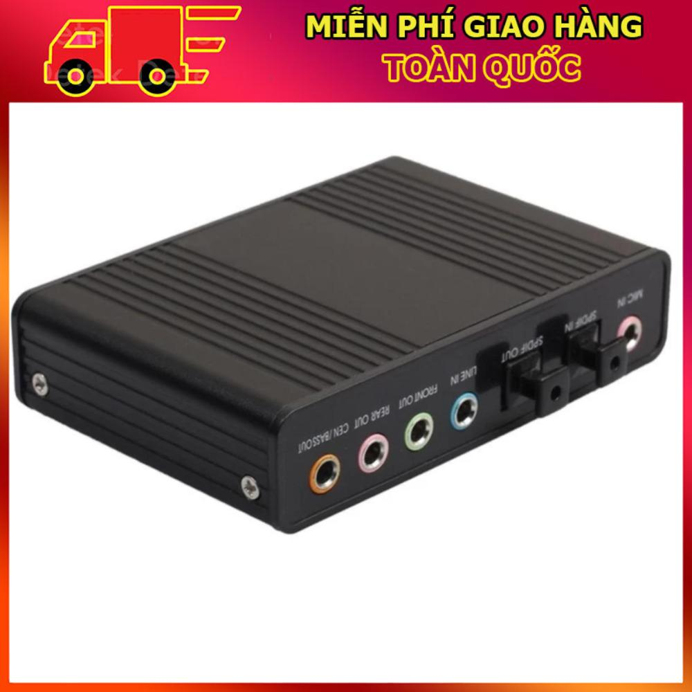 Bảng Giá MIỄN PHÍ VẬN CHUYỂN – Card âm thanh box 5.1 USB 6CH + Optical audio (Đen) Tại Do Choi PC (Hà Nội)