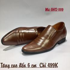 Giày Tăng Chiều Cao 6cm – Da bò 100%- Đen và Nâu – Xưởng đóng giày Hoàng Diệu