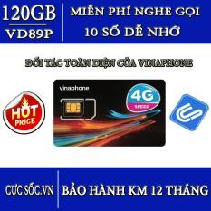 Siêu Sim 10 số 3G/4G VD89Plus Vinaphone 120GB/Tháng + gọi miễn phí-Hot 2018