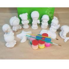 Bộ Tô Tượng Cho Bé Yêu ( Bộ tô tượng gồm 10 tượng , 6 màu 2 bút cho bé )