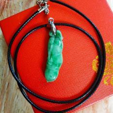 Dây chuyền trái đậu ngọc phỉ thúy Jadeit xanh ngọc – PT8888