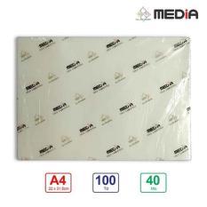 Màng Ép Plastic Media A4(22×31.5cm) 40Mic 100 Tờ / Xấp Sử dụng ép ảnh, giấy tờ Bảo vệ chống trầy xước , nước