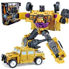 HiQueen 5-in-1 Alloy Deformation Robot Model Manual Operated Puzzle Educational Toy Christmas Gifts for Boys