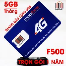 SIM Trọn Gói 1 Năm 4G Mobifone F500 Tặng 4GB/Tháng