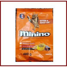 Thức ăn hạt Cho Mèo- mọi lứa tuổi. Minino 480g. Sản phẩm của Pháp.
