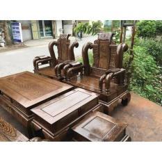 Bộ bàn ghế tần thủy hoàng gỗ mun đuôi công