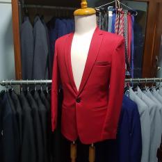 Bộ vest nam màu đỏ tươi cá tính (áo + quần)