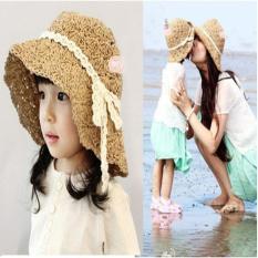 Sét mũ đôi cho mẹ và bé( màu cafe)