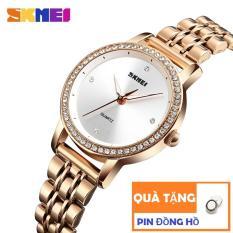Đồng hồ nữ dây thép không gỉ Skmei 1311 sang trọng (Tặng pin đồng hồ)