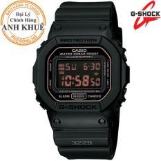 Đồng hồ nam dây nhựa G-SHOCK chính hãng Casio Anh Khuê DW-5600MS-1DR
