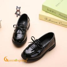 Giày bé gái đính nơ giày búp bê bé gái đẹp màu đen GLG096
