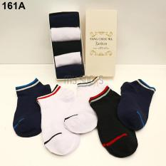 Combo 5 đôi vớ nm cotton 2 sọc cổ thấp khử mùi(5 màu) – A161