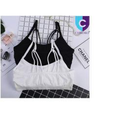 Áo lót thể thao nữ kèm đệm thun co dãn L94( đen hoặc trắng)