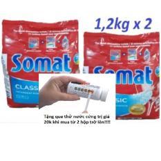 Combo 2 gói bột rửa bát Somat + Tặng que thử nước cứng 20k
