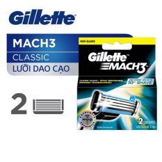 Lưỡi dao Gillette Mach3 vỉ 2 lưỡi – Classic vỉ 2s