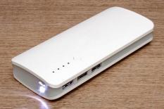 Pin sạc dự phòng 3 cổng USB 20.000MAH màu trắng- Hỗ trợ sạc nhanh