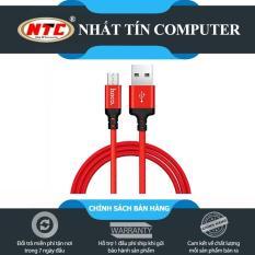 Cáp sạc dây dù Hoco X14 dài 1M – cổng microUSB (Hỗ trợ sạc nhanh) – Hãng phân phối chính thức