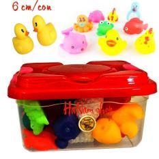 Hộp đồ chơi 30 thú cưng có kèn bằng cao su dẻo cho bé