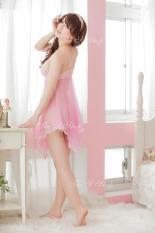 Váy Ngủ sexy Victoria màu hồng nhạt + tặng quần chíp cực sexy