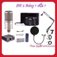 COMBO Bộ Micro K200- Card Xox K10- Dây Livestream Tốt- Chân Kẹp Míc- Màng Lọc Âm