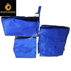 Áo mưa bộ trẻ em cao cấp nghộ nghĩnh siêu bền, bé từ 5-7 tuổi (màu xanh dương)