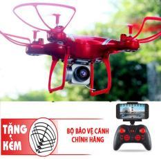 [Gồm camera] Máy bay Flycam KY101 Cao cấp, kết nối Wifi với điện thoại + Tặng tay cầm điều khiển từ xa (Đỏ)