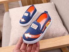 Giày bata trẻ em vải jean Size 27-32 RS138 (Xanh)
