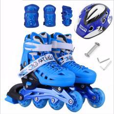 Giày trượt Patin trẻ em người lớn tặng mũ và đồ bảo hộ (SIZE S 28-32, M 33-37, L 38-42) ,Giày Trượt batin Trẻ Em Cao Cấp. HOT SALE tới 50%