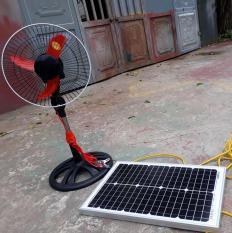 Tấm pin năng lượng mặt trời 25W Mono + sạc 10a + quạt