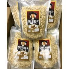 Yến mạch nguyên hạt cán mỏng Quaker Oats (1kg)